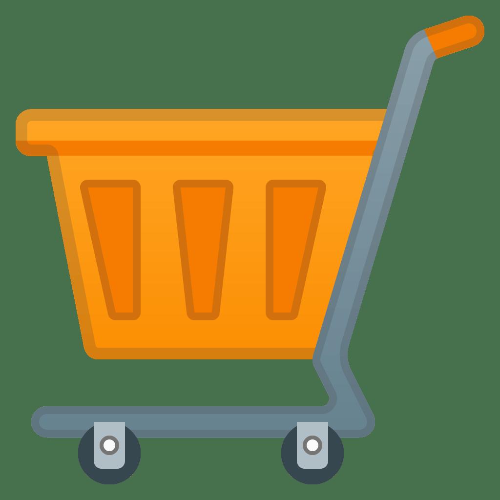 shopping cart icon noto emoji objects iconset google