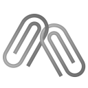 Linked paperclips icon