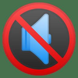 Muted speaker icon