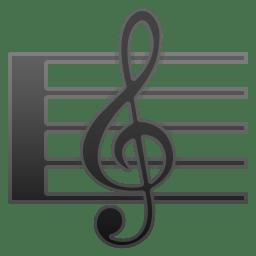 Musical score icon