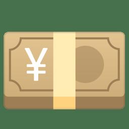 Yen banknote icon