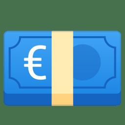 Euro banknote icon