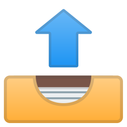 Outbox tray icon