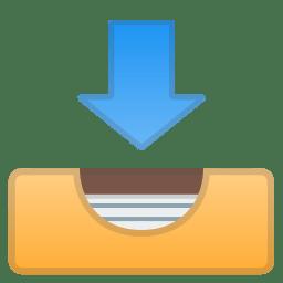 Inbox tray icon