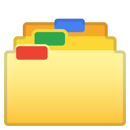 Card index dividers icon