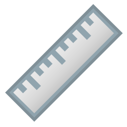 Straight ruler icon