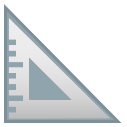 Triangular ruler icon
