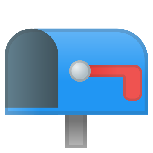 62898-open-mailbox-with-lowered-flag icon
