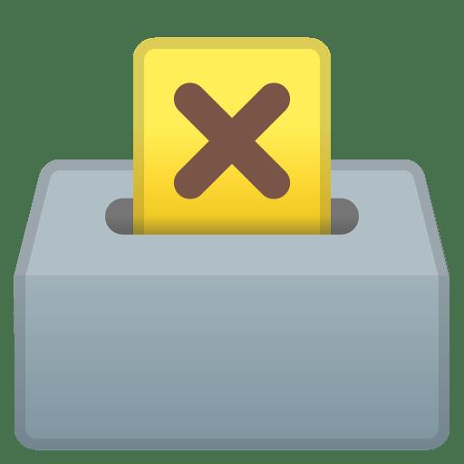 Ballot box with ballot icon