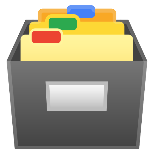 Card file box icon