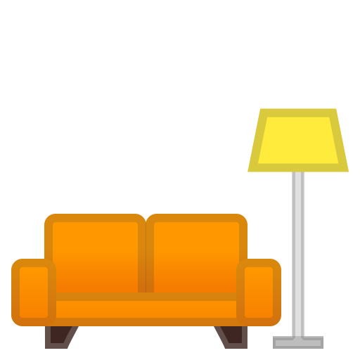 Couch and lamp icon
