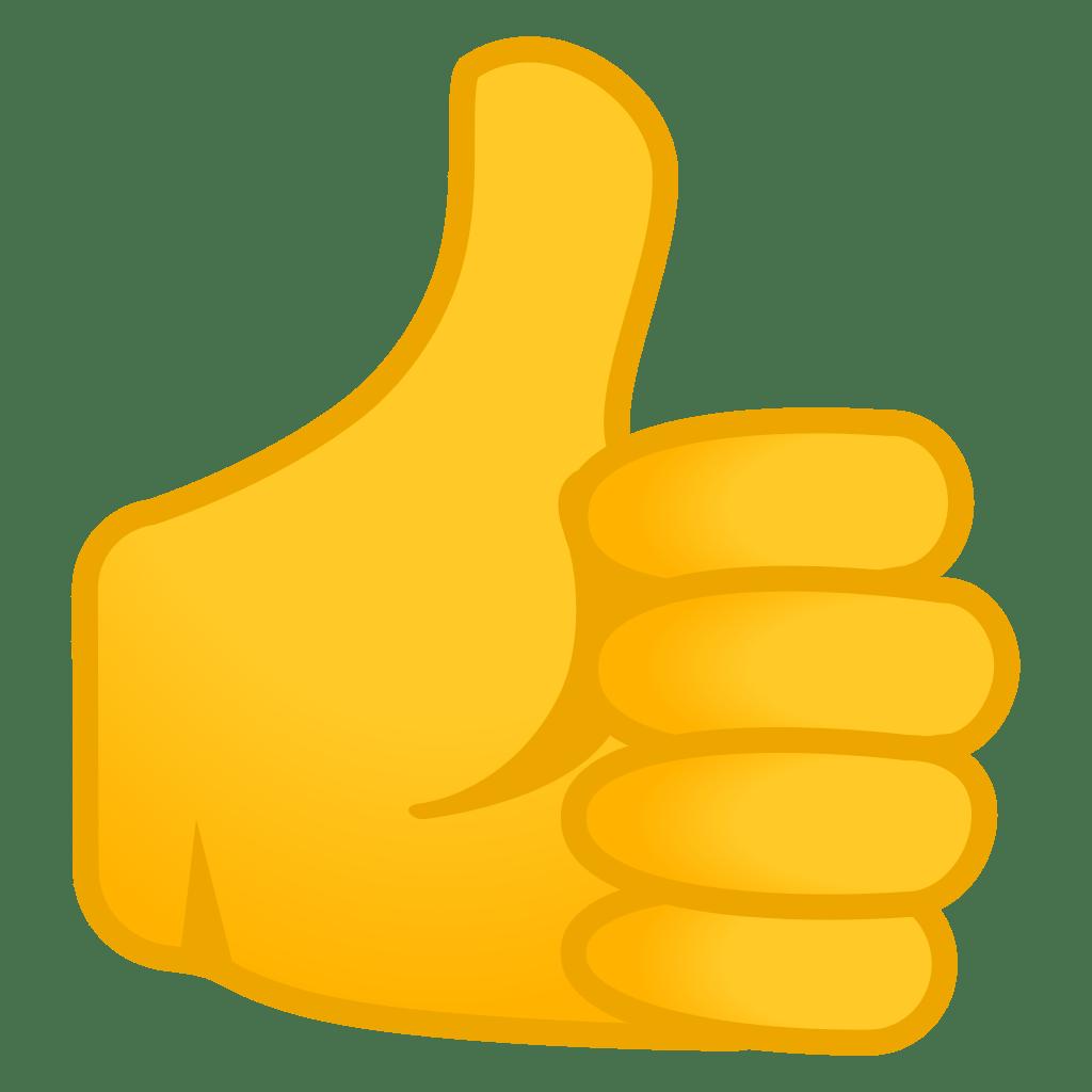 Výsledek obrázku pro thumbs up emoji png