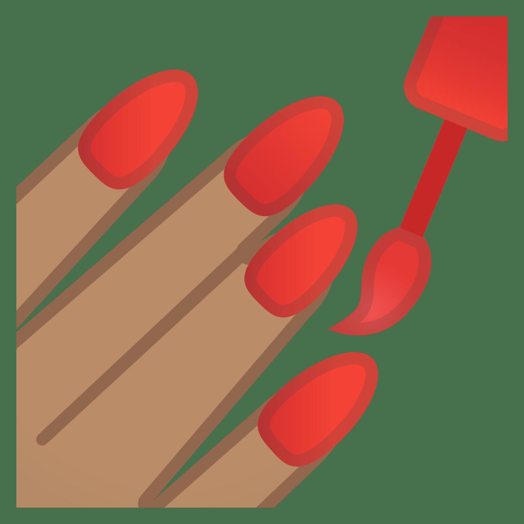 Nail Polish Medium Skin Tone Icon Noto Emoji People Bodyparts Iconset Google