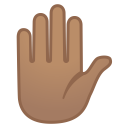 11999-raised-hand-medium-skin-tone icon
