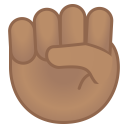 Raised fist medium skin tone icon