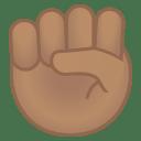 Raised fist medium skin tone icon