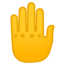 Raised back of hand icon