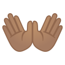 Open hands medium skin tone icon