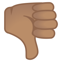 Thumbs down medium skin tone icon