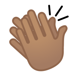 Clapping hands medium skin tone icon