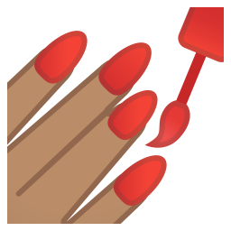 Nail polish medium skin tone icon