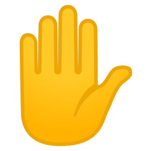 Raised hand icon