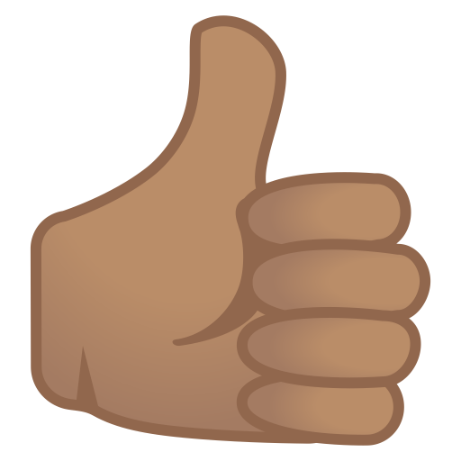 Thumbs up medium skin tone icon