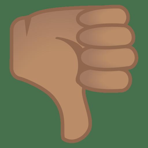 Thumbs down medium skin tone icon