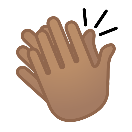 12072-clapping-hands-medium-skin-tone icon
