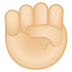 12021-raised-fist-light-skin-tone icon
