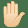 11997-raised-hand-light-skin-tone icon