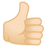 12009-thumbs-up-light-skin-tone icon