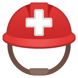 Rescue workers helmet icon