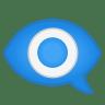 12129-eye-in-speech-bubble icon