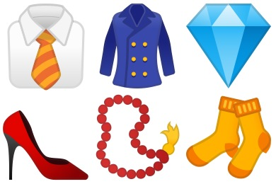 Noto Emoji Clothing & Objects Icons