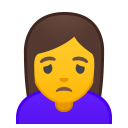 Woman frowning icon