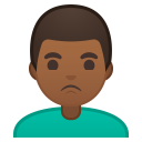 Man pouting medium dark skin tone icon
