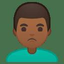 Man pouting medium dark skin tone icon