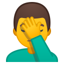 Man facepalming icon
