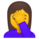 Woman facepalming icon