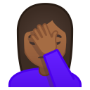 Woman facepalming medium dark skin tone icon