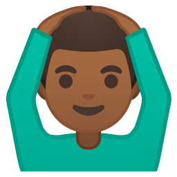 Man gesturing OK medium dark skin tone icon