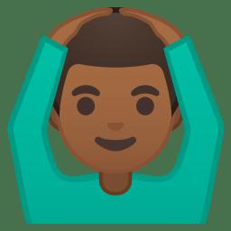Man gesturing OK medium dark skin tone icon