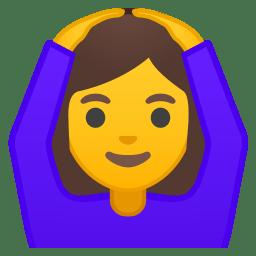 Woman gesturing OK icon