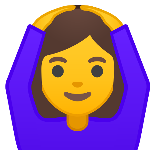 Woman gesturing OK icon