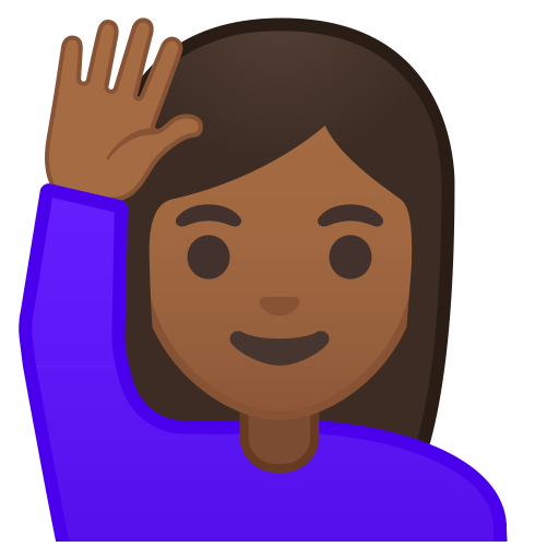 11112-woman-raising-hand-medium-dark-skin-tone icon