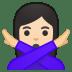 11016-woman-gesturing-NO-light-skin-tone icon