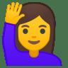 11104-woman-raising-hand icon