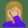 11168-woman-facepalming-medium-light-skin-tone icon