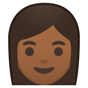 Woman medium dark skin tone icon